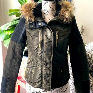 Women's H&M Olive and Black Fall/Winter Jacket Sz4